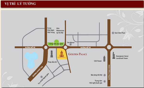 Location of Golden Palace apartment